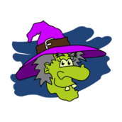 bruja,witch,caricatura,cartoon,halloween,cara,face,hat,sombrero