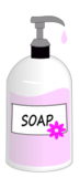 soap,liquid,pink,clean,wash,bath,household bathe,sink,kitchen,bathroom,label,drip,pump,dispenser,glass