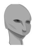 cartoon,grayscale,head