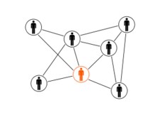 black,orange,men,cloud,network,web social