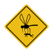 sign,roadsign,humor,mosquito,insect,hazard,caution,????