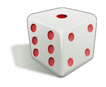 free download of rolling dice animated gif vector graphics Black and White Number 1 Black and White Number 1