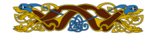 celtic,norse,viking,knot,mythology,history,motif,design,animal,blue,yellow,brown