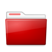 red,folder,ubuntu,manila,file folder