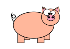 pig,farm,animal,public domain,free,clipart