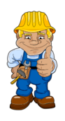 worker,blue,smiling,man