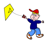 cartoon,boy,fly,kite