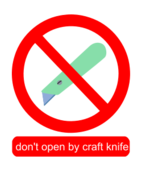 craft knife,utility knife,package,sign,prohibited