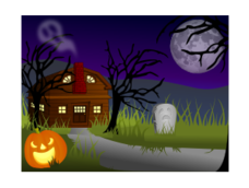 halloween,haunted,house,spooky,creepy,scary,horror,haunt,spirit,dead,death,night,scene,holiday,seasonal