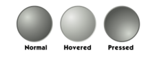 circle,button,template,media,gradient,grey,black and white,gray,hovered,pressed,normal