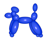 balloon,dog,animal,poodle,kid,party,clown,kid