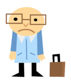 people,man,sad,glasses,briefcase,cute,cartoon,cartoony,character,character design