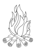fire,outline,black and white,coloring book,line art,hot