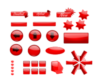 glossy,gloss,button,web,red