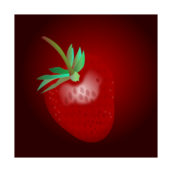 strawberry,leaf,stem,web optimezd,filter,radialgradients