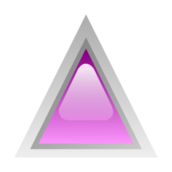 button,glossy,triangle,purple