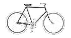 unchecked,bicycle,old,no color,bike,media,clip art,public domain,image,png,svg