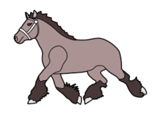 horse,running,animal,mammal,farm,shire,cartoon,outline,contour,media,clip art,public domain,image,svg