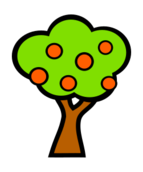 nature,plant,tree,fruit,apple,cartoon,basic,simple,colour,red,green,media,clip art,public domain,image,png,svg