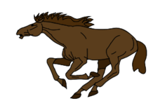 animal,mammal,horse,brown,running,media,clip art,public domain,image,png,svg