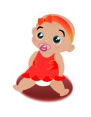 baby girl,child,kind,girl,copil,person,cartoon,color,media,clip art,public domain,image,png,svg,inkscape