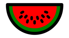 original,food,fruit,watermelon,icon,contour,clip art,media,public domain,image,png,svg