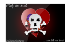 skull,death,love,kill,flower,heart,media,clip art,public domain,image,svg,png