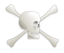 skull,bone,warning,danger,pirate,jolly roger,bone