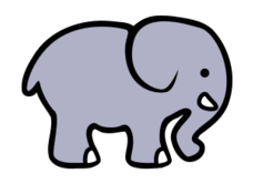 elephant,cartoon,animal,outline