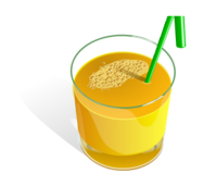 food,juice,fruit,glass,orange,straw