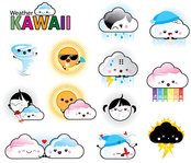 cartoon,character,childish,clear night,cloudy,cure,electric storm,funny,girl,kawaii,kid,little,nature,rainy,snowy,sunny,tornado,weather,windy