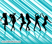dancing girl,people,silhouette,striped background,woman