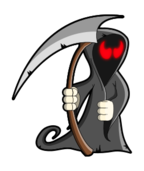 grim reaper,death,cartoon,skeleton,undead,evil,monster,spooky,halloween,gothic,horror,clip art