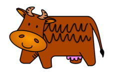 cartoon,cow