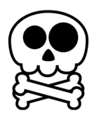 media,clip art,unchecked,public domain,image,png,svg,naive,childish,cartoon,outline,symbol,death,skeleton,skull,face