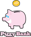 animal,bank,coin,outline,pig,pink,save,saving,money,piggy bank