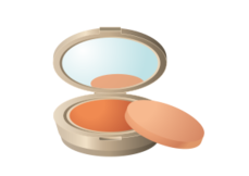 Showbiz make up mirror style frame vector free vector - Rangement maquillage acrylique transparent ...