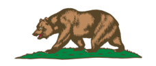 california,flag,bear