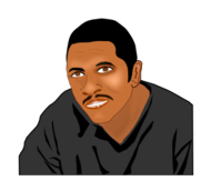 man portrait,handsome black man,clipart
