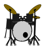 media,clip art,public domain,image,png,svg,music,instrument,musical instrument,rock,pop,band,drum,drum kit