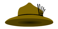 media,clip art,public domain,image,png,svg,scout,scouting,adventure,travel,camping,hat
