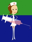 chlopaya,nurse,woman,needle,hypodermic,medicine,medical,media,clip art,public domain,image,svg